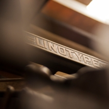 detail of our Linotype machine model 31