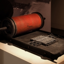 Our oldest proof press, from the beginning of the 20th century